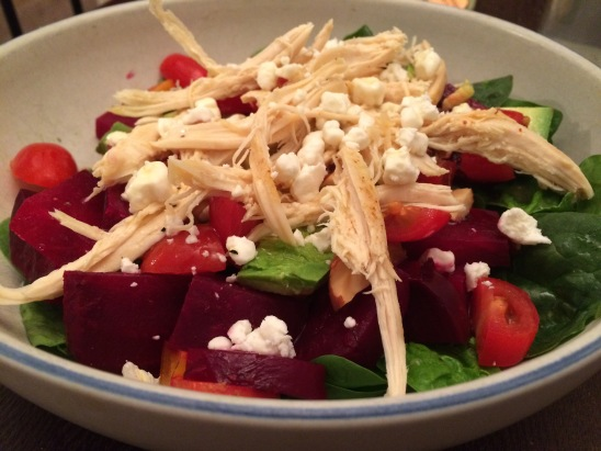 Chicken Avocado & Beet Salad 2