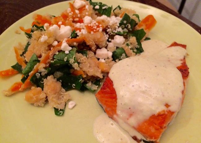 Salmon with Tahini Sauce 2